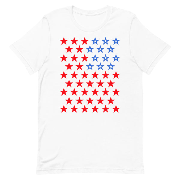 Star Spangled 2 Unisex T-Shirt 50 Stars States United States of America American Flag Red White Blue Freedom USA Original Art Abyssinian Kiosk