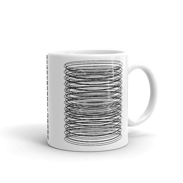 Black Ellipses Kaffa Mug