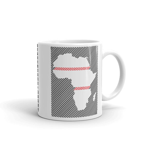 Africa Diagonal Lines Black Red Kaffa Mug