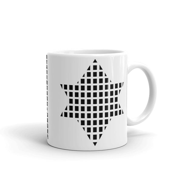 Black Boxes Star of David Kaffa Mug