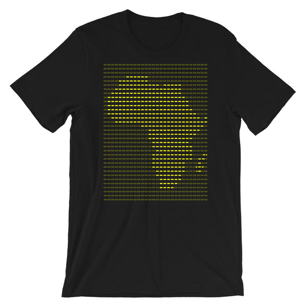Africa Yellow Dashes Unisex T-Shirt Abyssinian Kiosk Scantron Map Bella Canvas Original Art Fashion Cotton Apparel Clothing