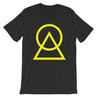 Yellow Circle Triangle Unisex T-Shirt Abyssinian Kiosk Harmonious Meeting Fashion Cotton Apparel Clothing Bella Canvas Original Art