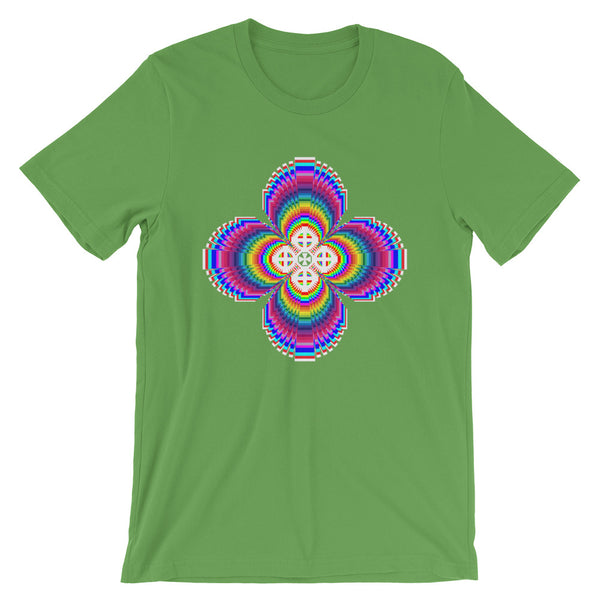 Psychedelic #9 Cross White Unisex T-Shirt Trip Trippy Colorful Ethiopian Coptic Orthodox Abyssinian Kiosk Christian Bella Canvas Original Art Fashion Cotton Apparel Clothing