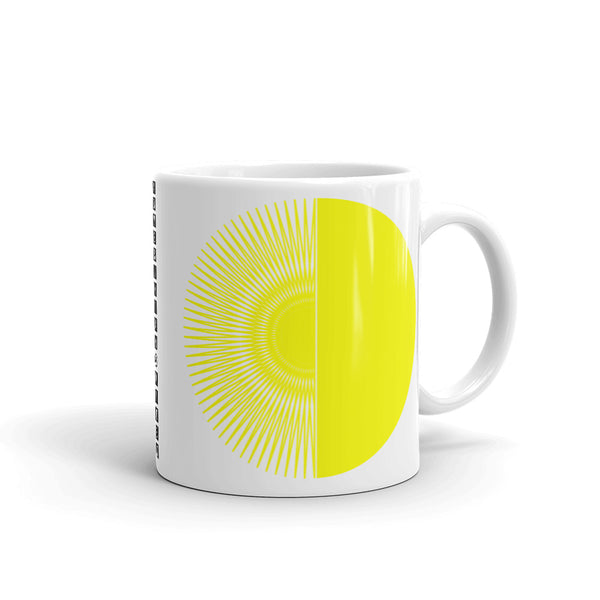 Yellow Half Star Half Circle Kaffa Mug