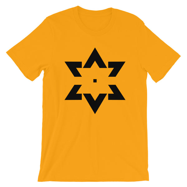 Black Star of David Tips Unisex T-Shirt Ends Ethiopian Falasha Abyssinian Kiosk Fashion Cotton Apparel Clothing Bella Canvas Original Art