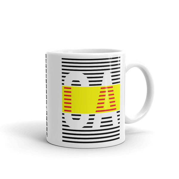 Black Yellow CA Kaffa Mug