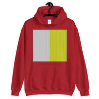 Grey Back White Yellow Lines Unisex Hoodie Square Abyssinian Kiosk Fashion Cotton Apparel Clothing Gildan Original Art