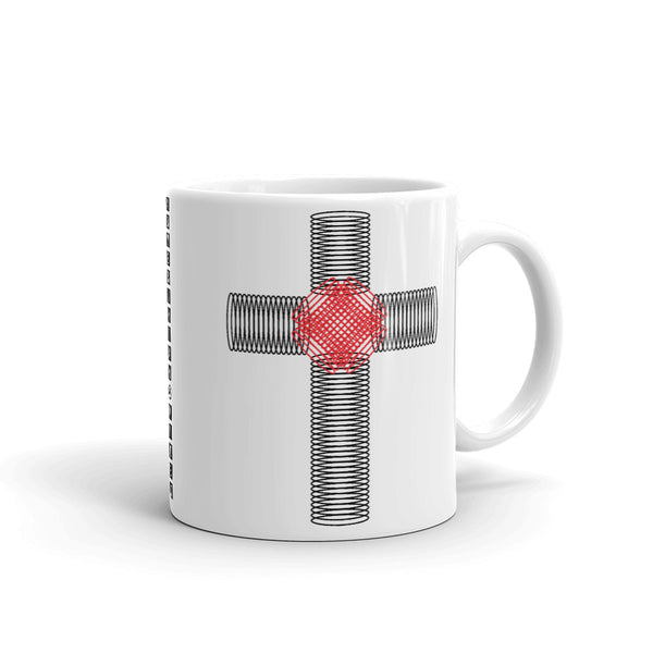 Black & Red Ellipse Cross Kaffa Mug