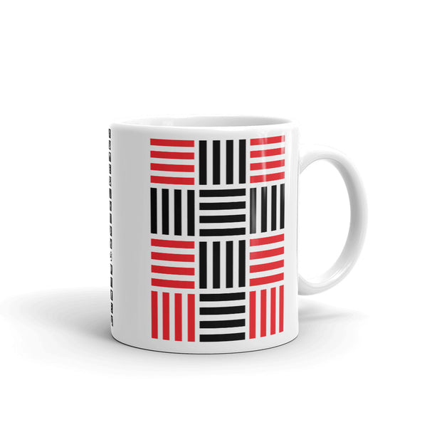 4 Lines Black Cross Red Kaffa Mug