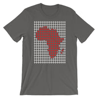 Red Africa White Grid Unisex T-Shirt Abyssinian Kiosk Fashion Cotton Apparel Clothing Bella Canvas Original Art