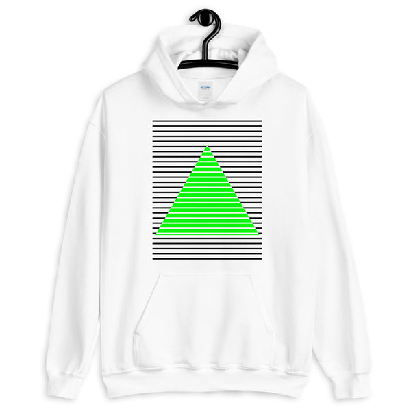 Black Green Lined Pyramid Unisex Hoodie Abyssinian Kiosk Fashion Cotton Apparel Clothing Gildan Original Art