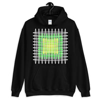 White Green Yellow Ellipses Unisex Hoodie Abyssinian Kiosk Fashion Ellipses Inside Ellipses Cotton Apparel Clothing Gildan Original Art