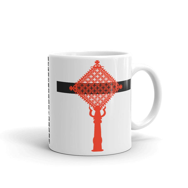 Red Cross Black Bar Coffee Mug Ethiopian Coptic Orthodox Abyssinian Kiosk Christian