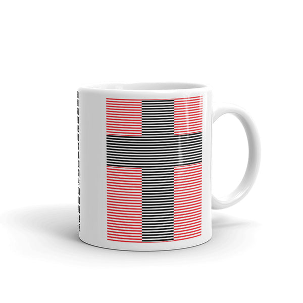 Black Cross Red Lines Kaffa Mug
