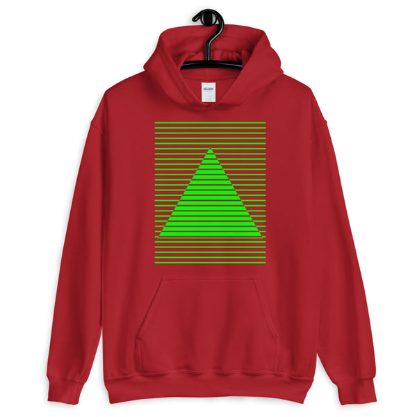 Green Lined Pyramid Unisex Hoodie Abyssinian Kiosk Fashion Cotton Apparel Clothing Gildan Original Art