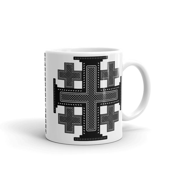 Plain Black #12 Cross Kaffa Mug