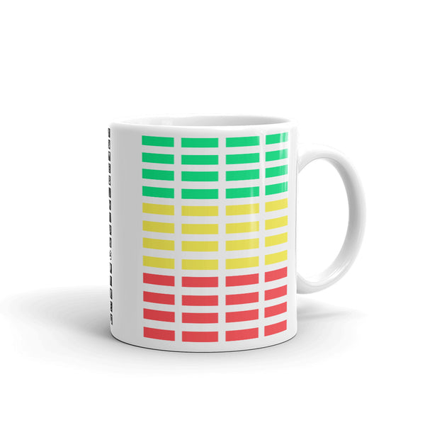 Green Yellow Red Grid Bars Kaffa Mug
