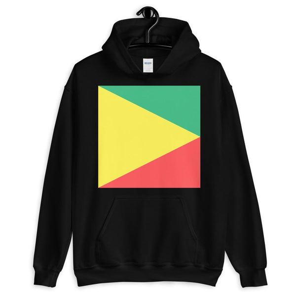 Green Yellow Red Triangle Square Unisex Hoodie Abyssinian Kiosk Ethiopian Fashion Cotton Apparel Clothing Gildan Original Art
