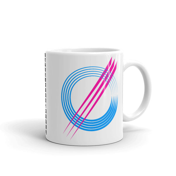 Blue Circles Pink Strikes Kaffa Mug