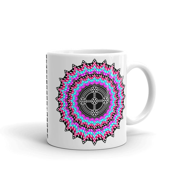 Psychedelic #14 Black Cross Kaffa Mug