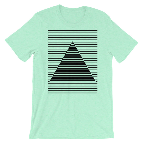 Black Lined Pyramid Unisex T-Shirt Abyssinian Kiosk Fashion Cotton Apparel Clothing Bella Canvas Original Art