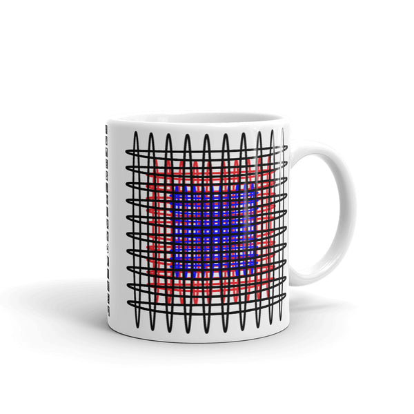 Black Red Blue Ellipses Kaffa Mug
