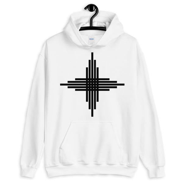 Plain Black Zia Sun Cross Unisex Hoodie Abyssinian Kiosk Fashion Cotton Apparel Clothing Gildan Original Art