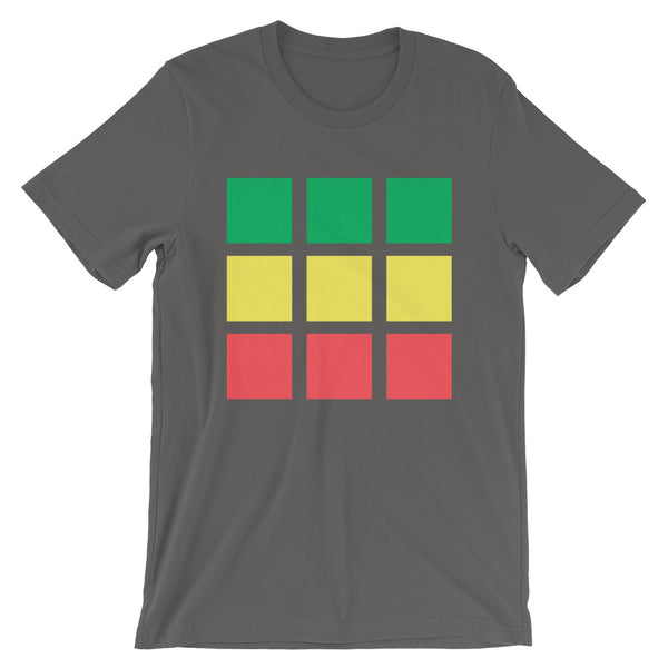 GYR Blocks Unisex T-Shirt Bella Canvas Original Art Abyssinian Kiosk Fashion Cotton Apparel Clothing Green Yellow Red Ethiopia Ethiopian Flag