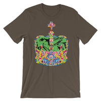 Funky Crown Green Unisex T-Shirt Abyssinian Kiosk Empress Menen Crown Haile Selassie Colors African Royal Royalty Fashion Cotton Apparel Clothing Bella Canvas Original Art
