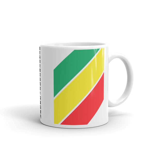 Green Yellow Red Stripes Kaffa Mug