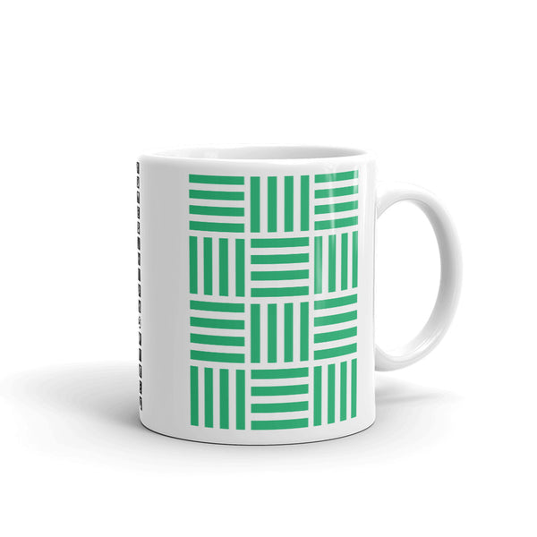 Lots of 4 Green Lines Kaffa Mug