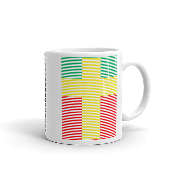 Yellow Cross Green Red Lines Kaffa Mug