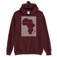Africa Diagonal Lines White Red Unisex Hoodie Abyssinian Kiosk Fashion Cotton Apparel Clothing Gildan Original Art