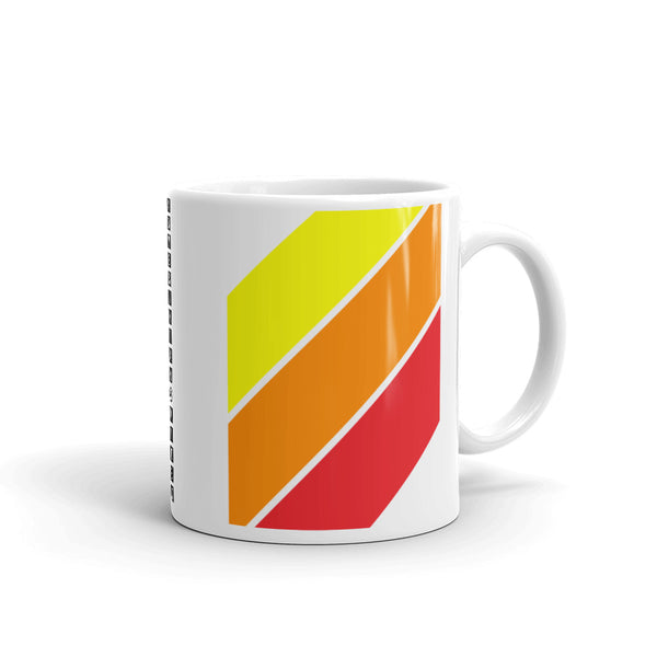 Yellow Orange Red Stripes Kaffa Mug