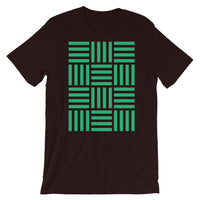 Lots of 4 Green Lines Unisex T-Shirt Abyssinian Kiosk Fashion Cotton Apparel Clothing Bella Canvas Original Art