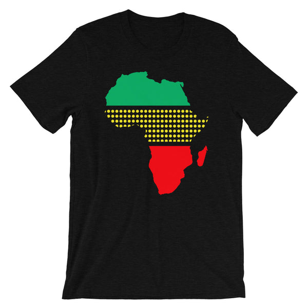 Africa GYR Middle Dots Unisex T-Shirt Abyssinian Kiosk Fashion Cotton Apparel Clothing Bella Canvas Original Art Green Yellow Red Ethiopia Ethiopian Flag