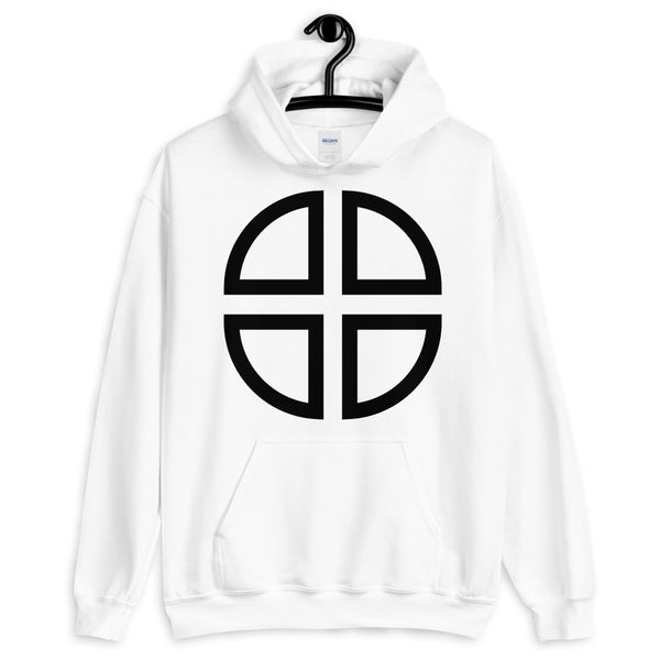 Between the Lines Cross Black Unisex Hoodie Abyssinian Kiosk Ethiopian Coptic Orthodox Tewahedo Christian Gildan Original Art Fashion Cotton Apparel Clothing