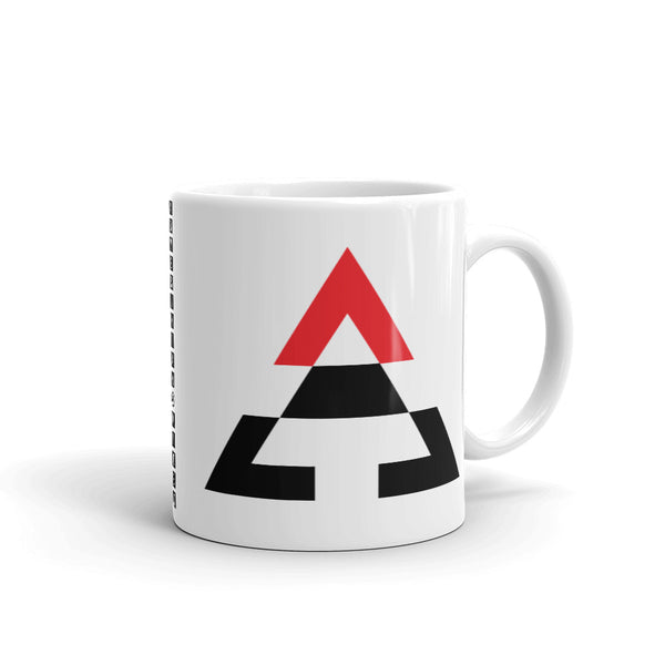 Pyramid Black Bottom Red Top Kaffa Mug