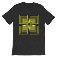 Yellow Mirrored Corners Unisex T-Shirt Abyssinian Kiosk Fashion Cotton Apparel Clothing Bella Canvas Original Art
