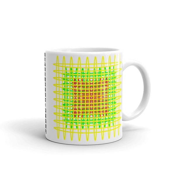 Yellow Green Red Ellipses Kaffa Mug