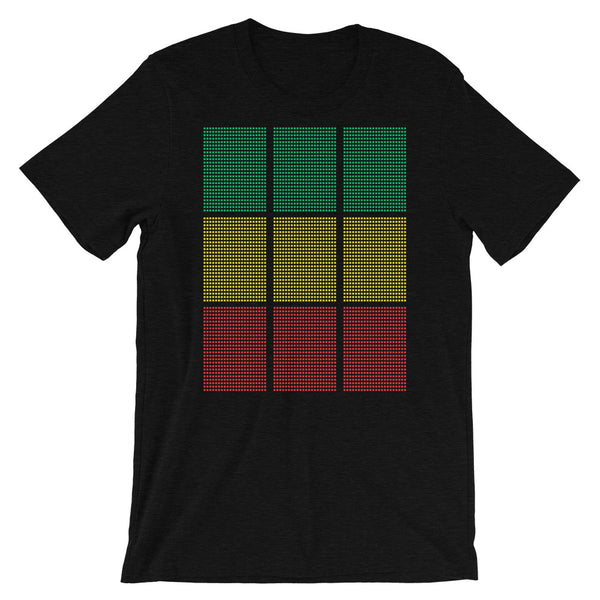 Green Yellow Red Squares Unisex T-Shirt Abyssinian Kiosk Fashion Cotton Apparel Clothing Bella Canvas Original Art