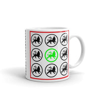 Black and Lime Lions Coffee Mug Ethiopian Lion of Judah Abyssinian Kiosk Abyssinia Ethiopia