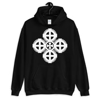 Plain White #9 Cross Unisex Hoodie Ethiopian Coptic Orthodox Abyssinian Kiosk Christian Gildan Original Art Abyssinian Kiosk Fashion Cotton Apparel Clothing