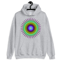 Psychedelic Star Unisex Hoodie Trip Trippy Colorful Abyssinian Kiosk Gildan Original Art Abyssinian Kiosk Fashion Cotton Apparel Clothing
