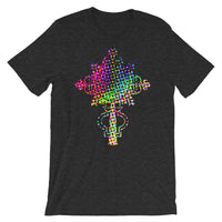 #10 Cross Experiment Unisex T-Shirt Trip Trippy Colorful Ethiopian Coptic Orthodox Abyssinian Kiosk Christian Bella Canvas Original Art Abyssinian Kiosk Fashion Cotton Apparel Clothing