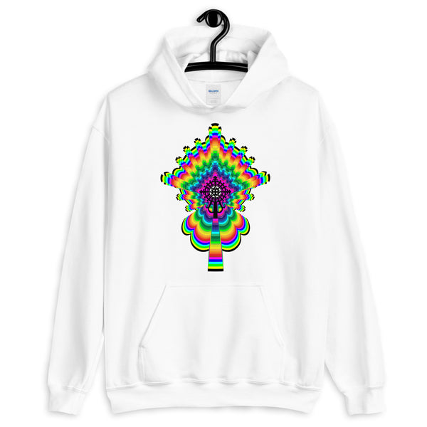 Psychedelic #2 Cross Black Unisex Hoodie Trip Trippy Colorful Ethiopian Coptic Orthodox Abyssinian Kiosk Christian Gildan Original Art Fashion Cotton Apparel Clothing