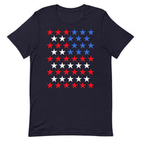 Star Spangled Unisex T-Shirt 50 Stars States United States of America American Flag Red White Blue Freedom USA Original Art Abyssinian Kiosk