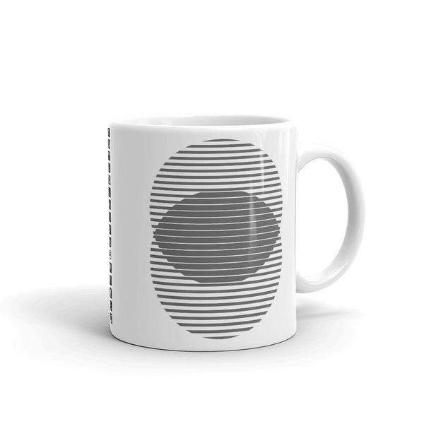 Grey Lined Circles Kaffa Mug