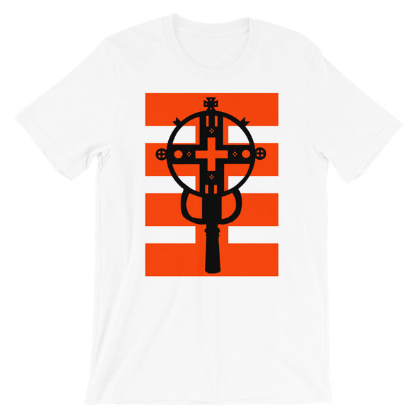 Black Cross Red Stripes Unisex T-Shirt Ethiopian Coptic Orthodox Abyssinian Kiosk Christian