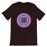 Psychedelic #14 Black Cross Unisex T-Shirt Trip Trippy Colorful Abyssinian Kiosk Ethiopian Coptic Orthodox Christian Bella Canvas Original Art Fashion Cotton Apparel Clothing